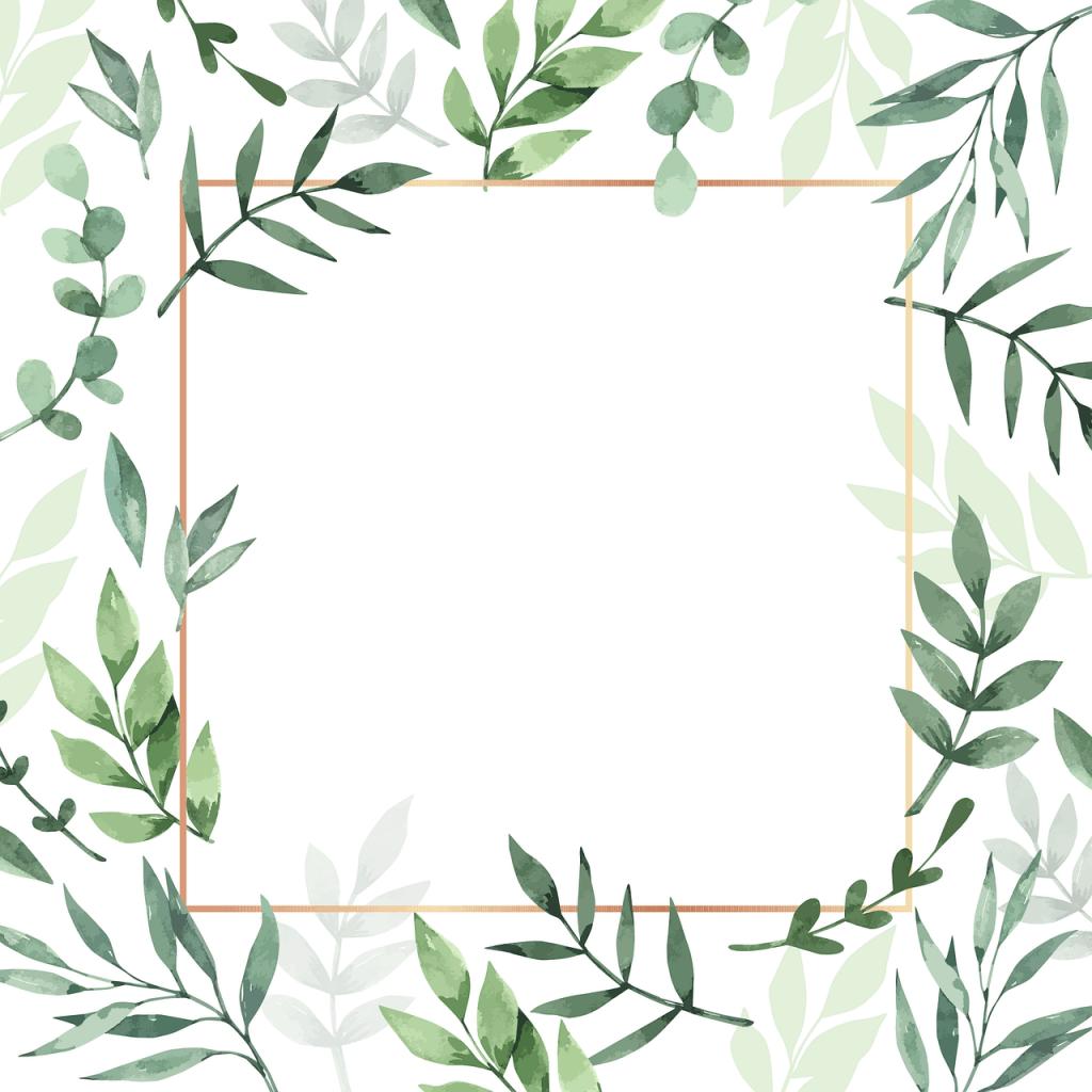 grafika, liście, natura